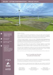 Projet éolien d'Ichy, lettre d'information n°2